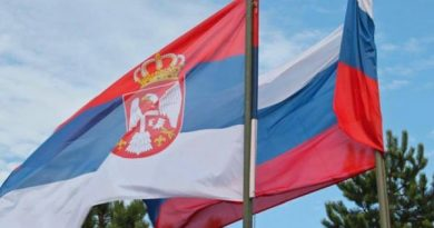 Владимир Путин прибывает в Сербию