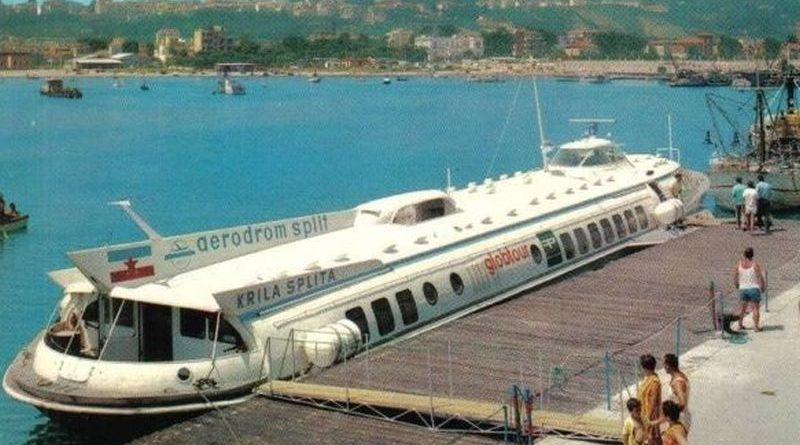 Советские суда на подводных крыльях в Югославии